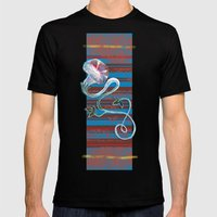 Morning Glory Mens Fitted Tee Black SMALL