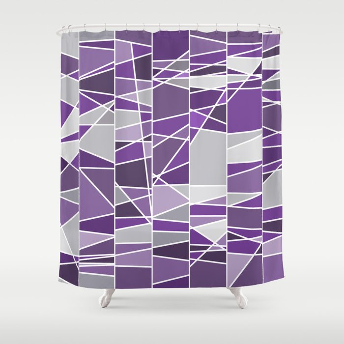 Purple And Grey Shower Curtain By Colorshop