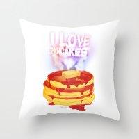 I Love Pancakes Throw Pillow
