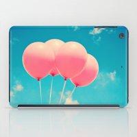 Pink Balloons on Deep Blue  iPad Case