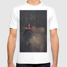 Helplessly Lost SMALL Mens Fitted Tee White