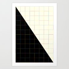 Colorful Lines (black An… Art Print