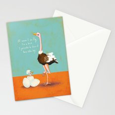 Confident Ostrich Stationery Cards