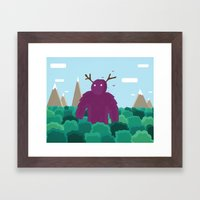 Life Swarms with Innocent Monsters Framed Art Print