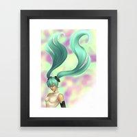 Append Framed Art Print