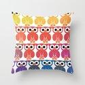 Power Owl Throw Pillow