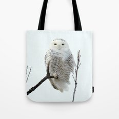 Snowy in the Wind (Snowy Owl) Tote Bag