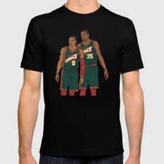 Westbrook and Durant - Retro Jersey SMALL Black Mens Fitted Tee