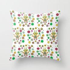 Robot Rita Throw Pillow