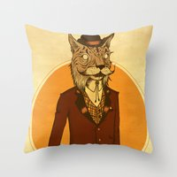 {Bosque Animal} Lince Throw Pillow
