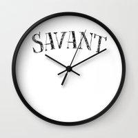 Savant - black on white version Wall Clock