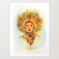 Leo (Zodiac Series) Art Print