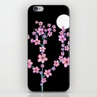 Cherry Blossoms At Night iPhone & iPod Skin