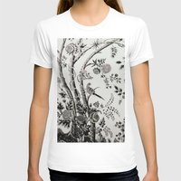 Peacock Tree Natural Womens Fitted Tee White SMALL
