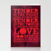 Tender  Stationery Cards