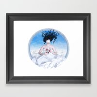Blood and Snow Framed Art Print