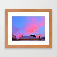 Sunset over J St Framed Art Print