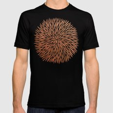Rose Gold Burst SMALL Black Mens Fitted Tee