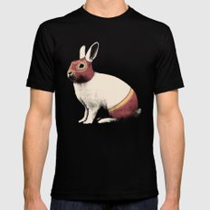 Lapin Catcheur (Rabbit Wrestler) SMALL Black Mens Fitted Tee