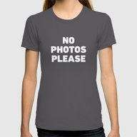 No Photos Please Womens Fitted Tee Asphalt X-LARGE
