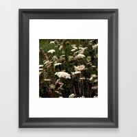 White Fields Framed Art Print