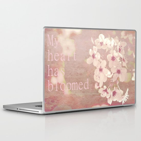 My heart has bloomed Laptop & iPad Skin