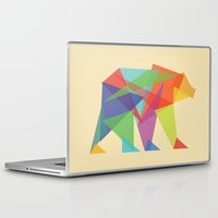 fractal Laptop & iPad Skins featuring Fractal Geometric bear by Picomodi