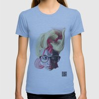 Julia Womens Fitted Tee Athletic Blue SMALL