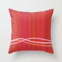 Strawberry Waves Throw Pillow