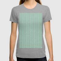 Herringbone Mint Inverse Womens Fitted Tee Tri-Grey SMALL