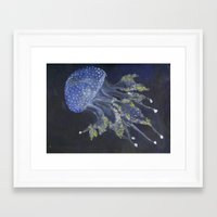 Framed Art Print featuring Jellyfish by Eternal