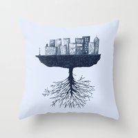 The World Against The Wo… Throw Pillow