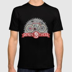 Born To Cycle Mens Fitted Tee SMALL Black