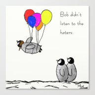 To Be A Flying Penguin  Canvas Print