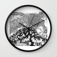 Zentangle Vermont Landsc… Wall Clock