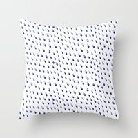 Waterdrops Pattern Throw Pillow
